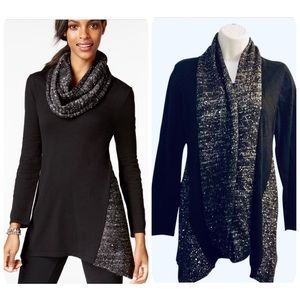✨1 for $25 or 2 for $40✨Black sequin sweater&scarf